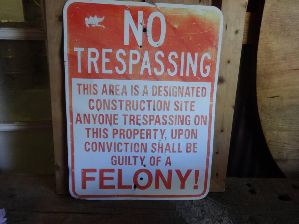 No Trespassing Metal Sign 18x24