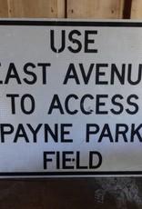 Payne Park Access Metal Sign 30x24