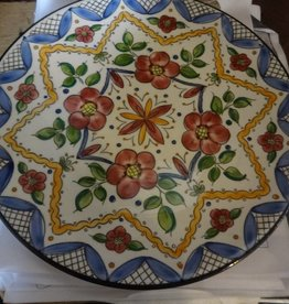 Spanish Hand Painted Floral Plate