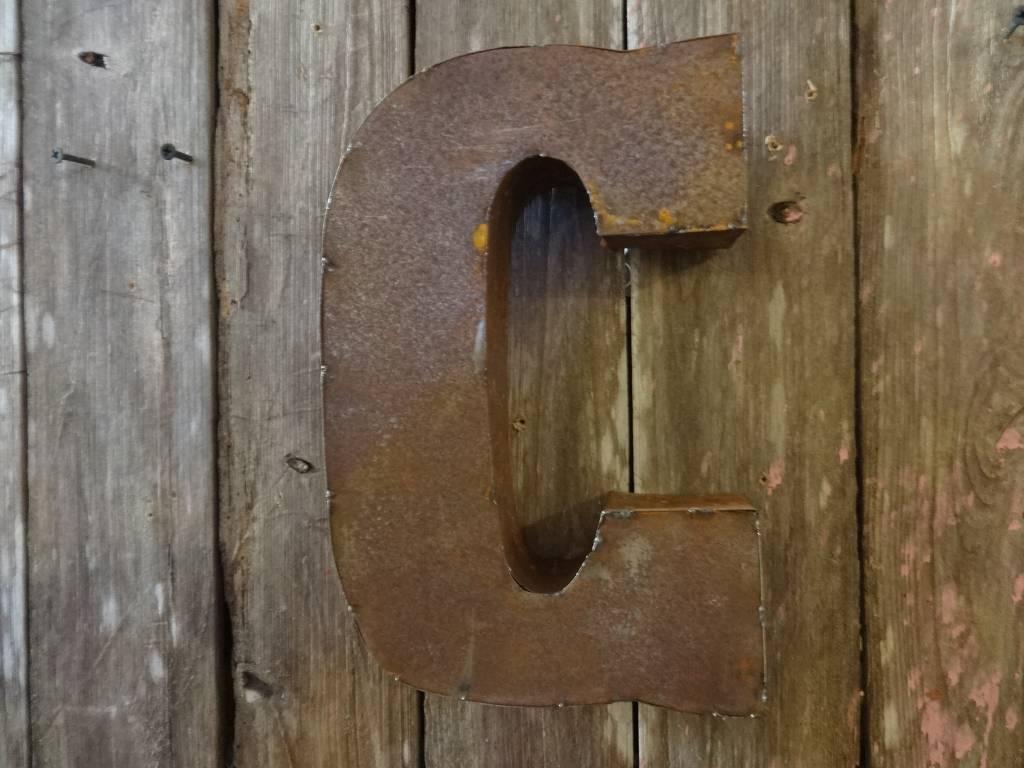 """10"""" Tin Letter C"""
