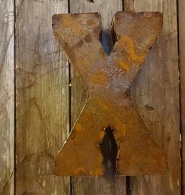 "10"" Tin Letter X"