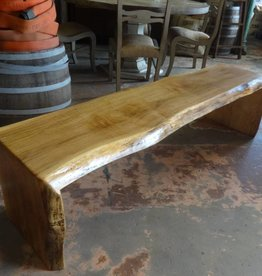 Spalted Maple Live Edge Bench 17.5x67x17