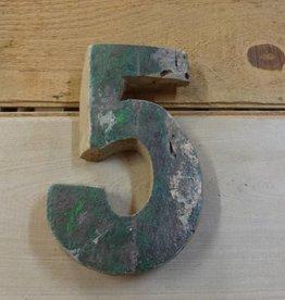 """7"""" Teak Boat Number 5"""