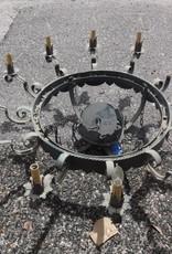 12 Light Iron Round Chandelier