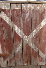 Md Half Barn Door Red White X