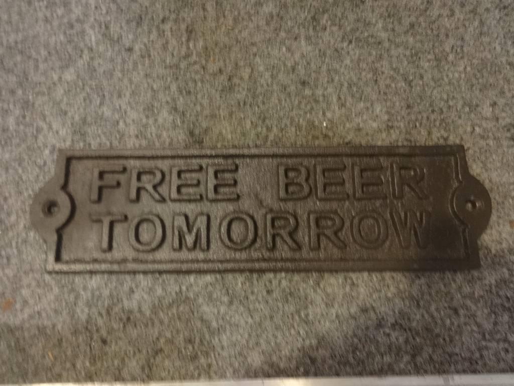 Free Beer Plaque