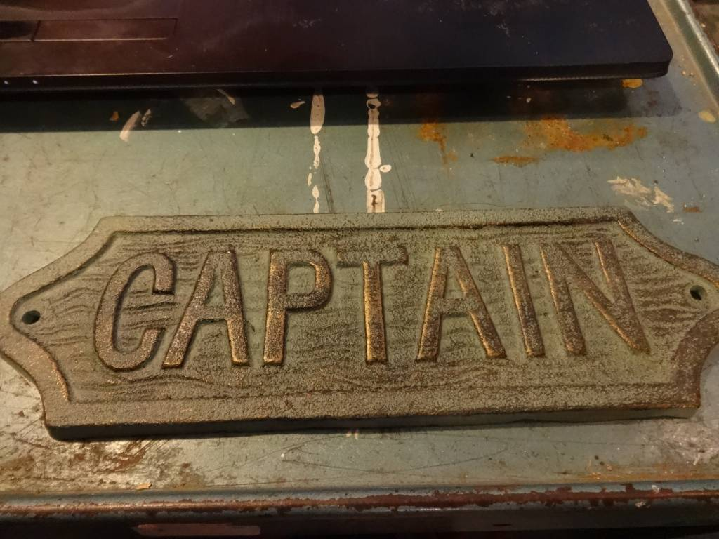 Captain Iron Plaque