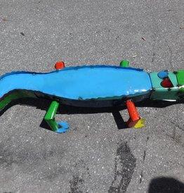 Large Tin Alligator 7x47