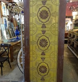 Egyptian Hand Carved Door Yellow