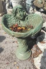 Green Angle Bird Bath