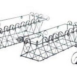 """Md Kinsale Wall Basket 6"""" H x 27"""" W x 11"""" L"""