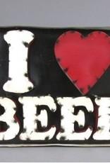 I Love Beer Sign