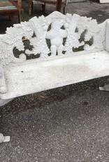 Cast Aluminum Bear Bench
