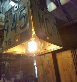 License Plate Hanging Light