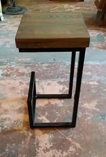 Black Base Grey Cypress Stool