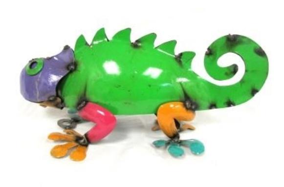 Sm Tin Chameleon 7''H x 12''L x 6''W