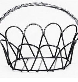 Small White Adare Hanging Basket
