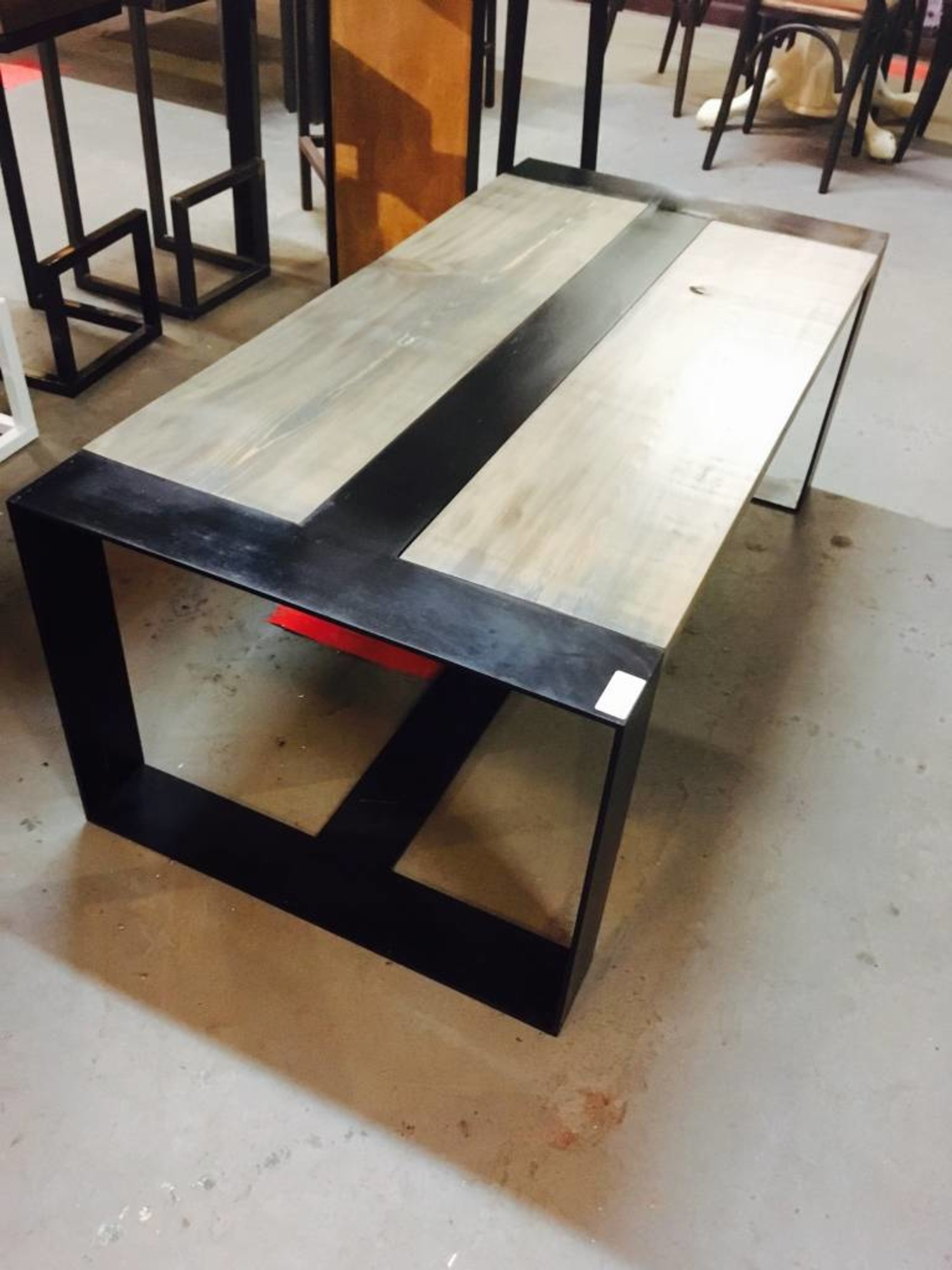Excellent 2X4 Cypress And Steel Center Rail Coffee Table Creativecarmelina Interior Chair Design Creativecarmelinacom
