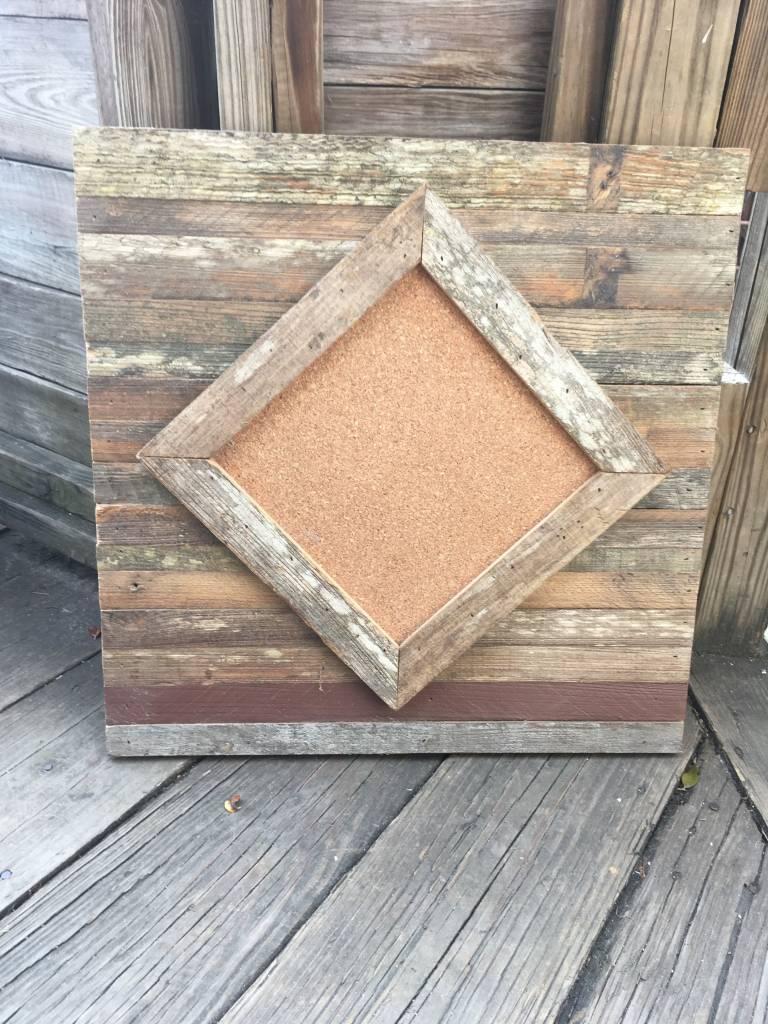 20X20 Cypress Diamond Pattern Cork Board