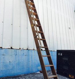 11.5' Vintage Putnam Library Ladder w/ Rail