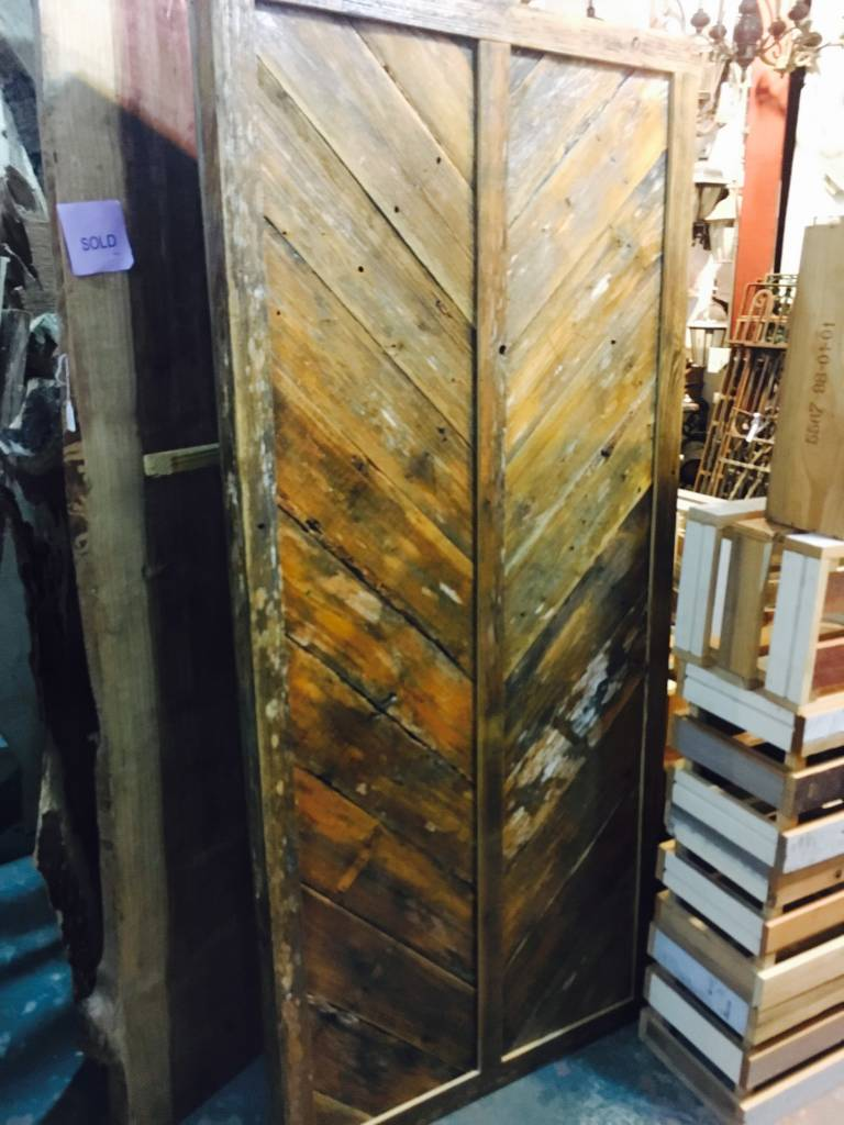 36x80 Cypress Split Chevron Barn Door