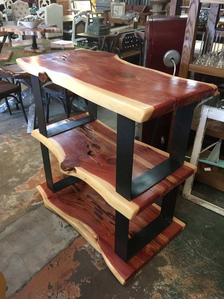 Live Edge Cedar Shelf Unit