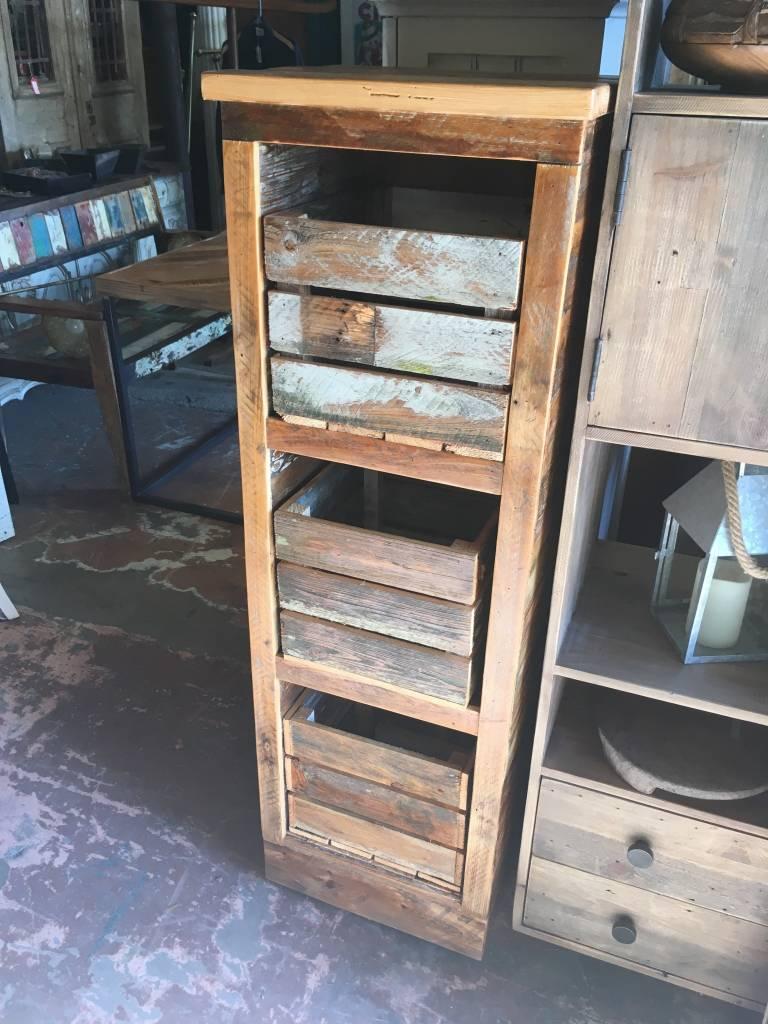 Cypress 3 Shelf Cubby Cabinet 54x15x17