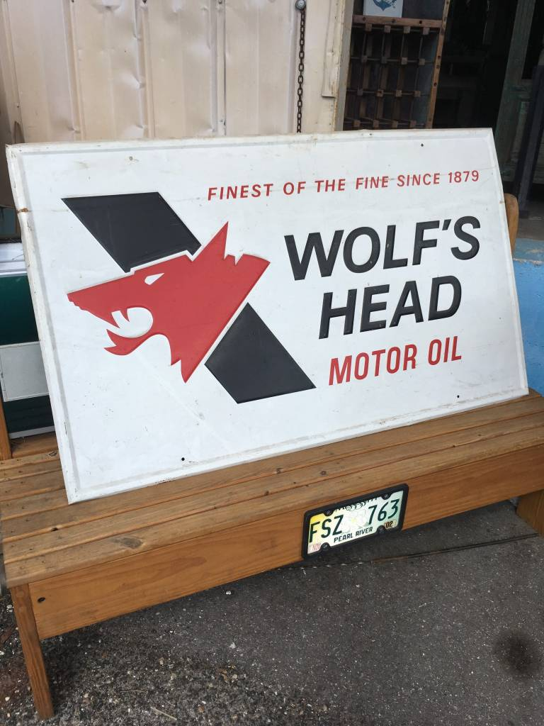 Wolfs Head Motor Oil Sign