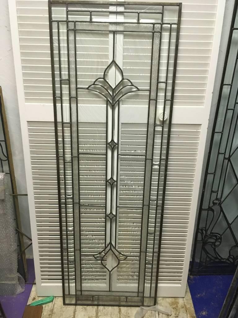 Leaded Glass Window Panel K 22x64