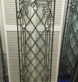Leaded Glass Window Panel L 22x64