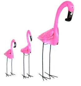 "Lg Tin Flamingo 60"" H x 29.5"" L"