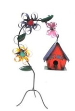 "Flower Hanging Birdhouse 22""H x 13""L"
