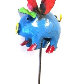 "Flying Pig On Stake 53""H x 8""L x 4 1/2""W"