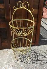 2 Round Basket Tower Planter