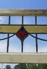 """Salvaged Stained Glass Window 19 3/4"""" X 16 3/4"""""""