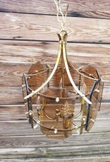 Glass/ Brass Pendant Light