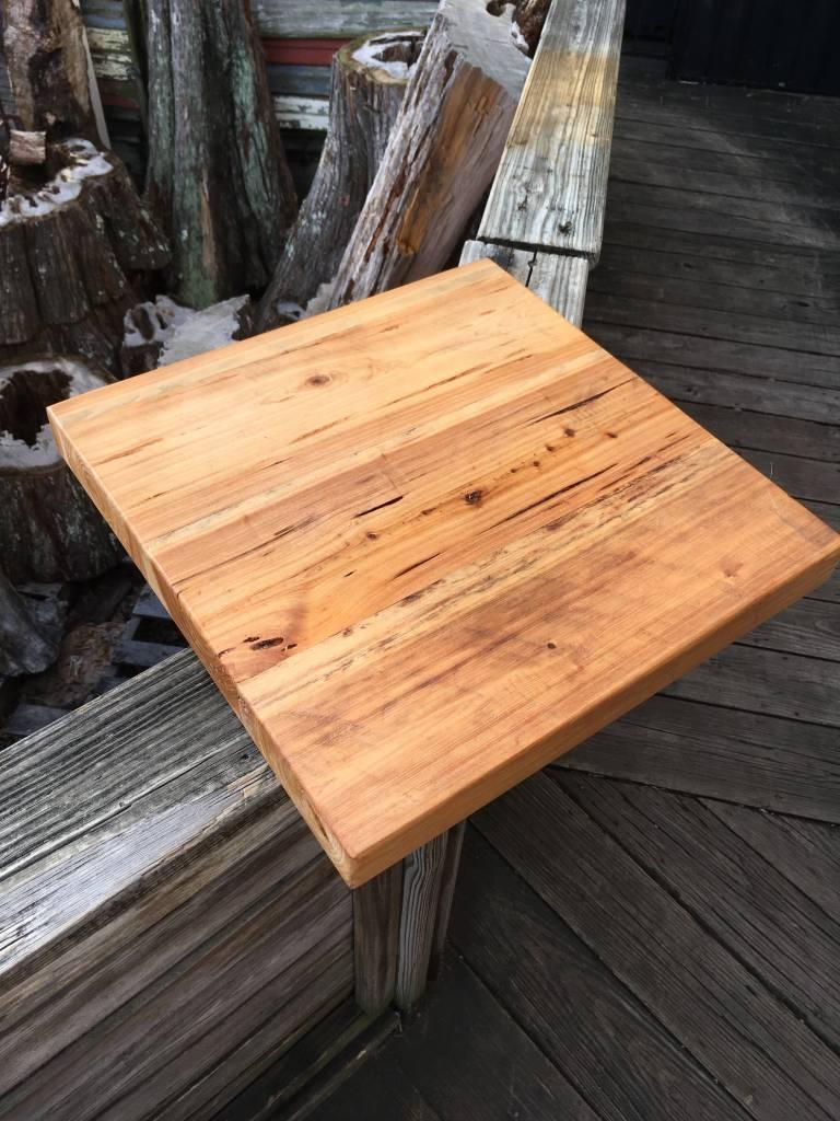 "Pecky Cypress 18""x18""x2"" Side Table"