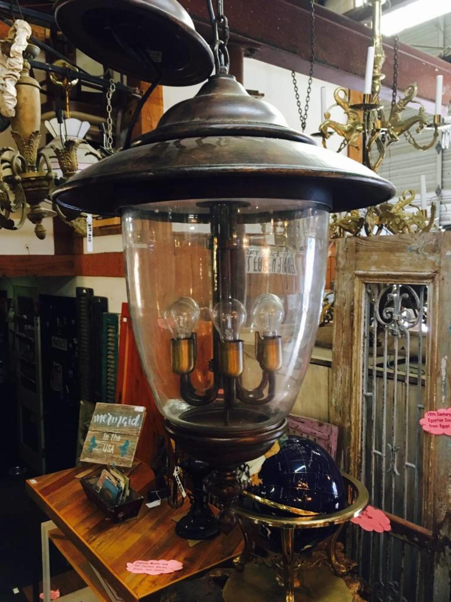 Large 6 Light Brown Robers Chandelier