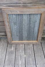 """28""""X 28"""" Framed Corrugated Metal"""