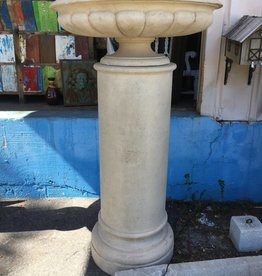 Large Stone Column w/ Planter Top