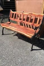Live Edge Cedar Iron Bench