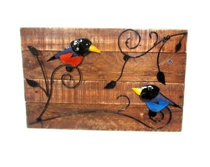Birds Wood Sign