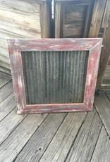 31x32 Framed Corrugated Metal Panel