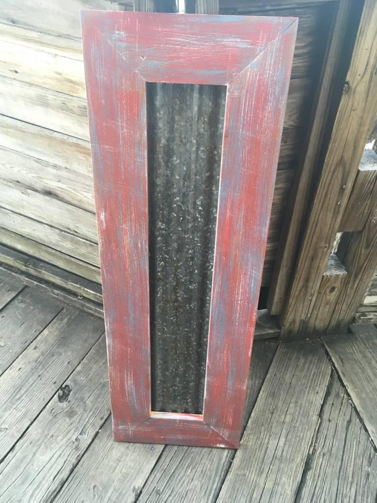 41x14 Framed Corrugated Metal Panel