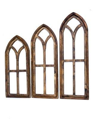 Medium Pisa Wood Window 32.5x12x1.5