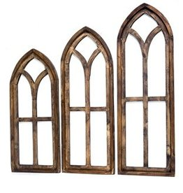 Large Pisa Wood Window 28.5x12x1.5