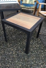 24x24x22 Cypress Side Table Steel Base