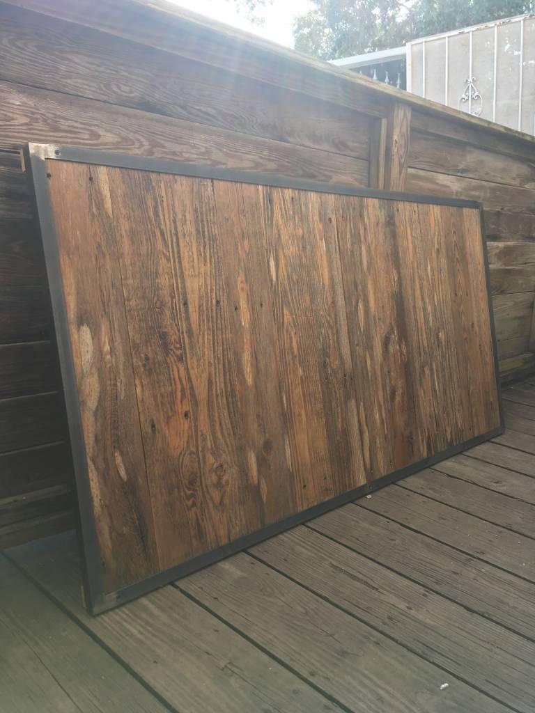 33.5x64.5 Cypress & Iron Headboard