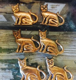 Small Brass Cat