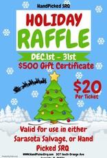 $500 Gift Certificate Raffle Ticket